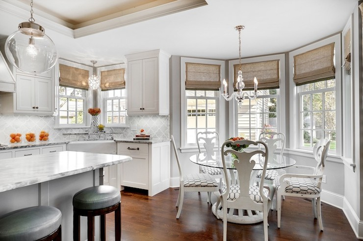 Bay Window Dining Nook Transitional Kitchen Great