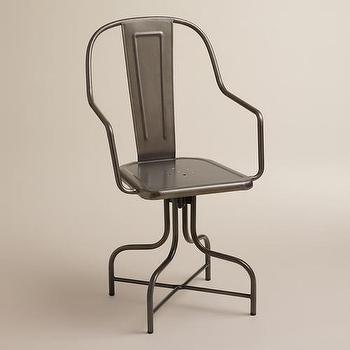 Celia Metal Swivel Chair, World Market