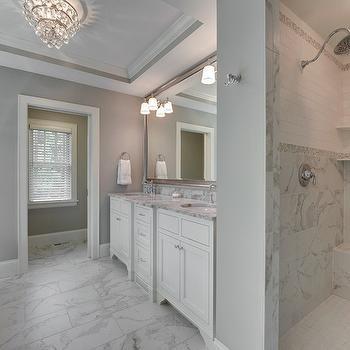 Two Tone Vanity Contemporary Bathroom Phoebe Howard