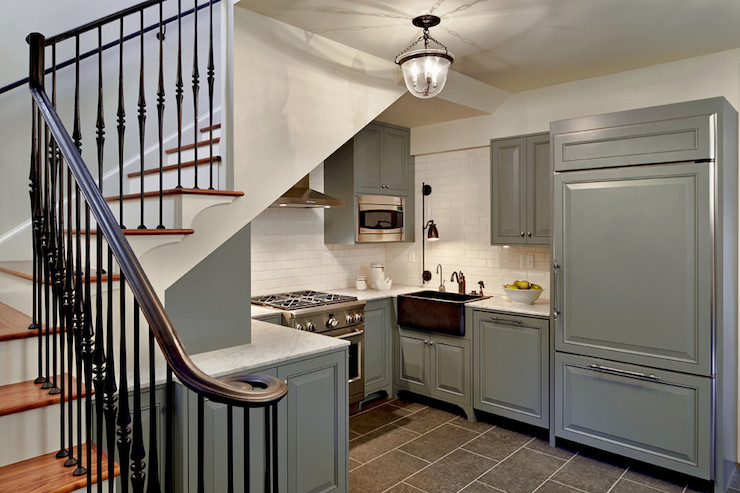 Gray Kitchen Cabinets - Transitional - kitchen - Hyde Evans Design