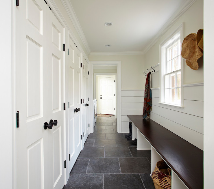 Long Mudroom Ideas Cottage Laundry Room TR Building