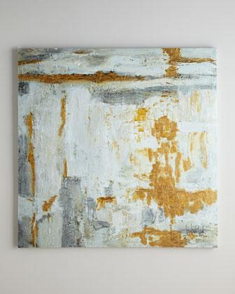Silver And Gold Wall Art silver and gold brushstroke canvas wall art