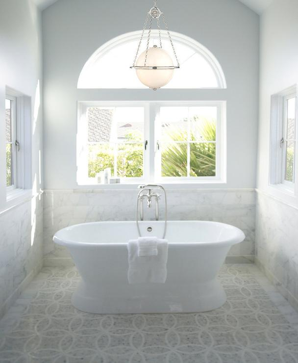 Bathtub Chandelier: Mosaic Marble Floor