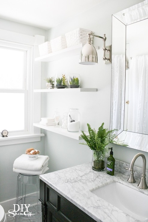 Transitional Bathroom Valspar Pale Linen Diy Showoff