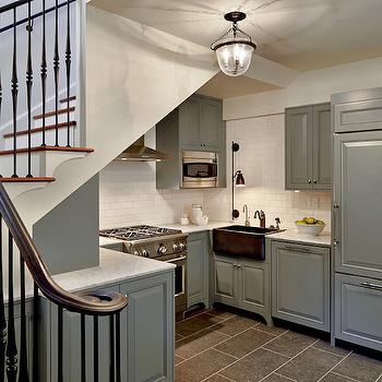 Gray Kitchen Cabinets, Transitional, kitchen, Hyde Evans Design