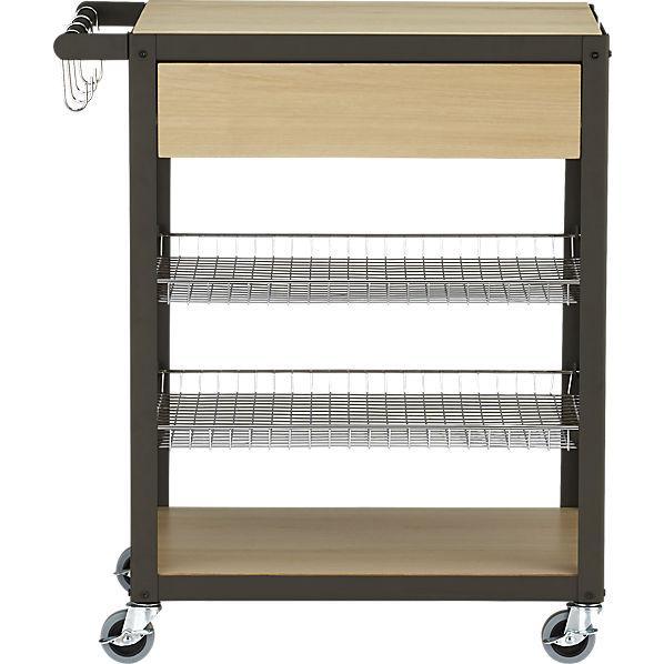Wood And Metal Jackson Kitchen Cart: Jackson Kitchen Cart - Dining Room Furniture