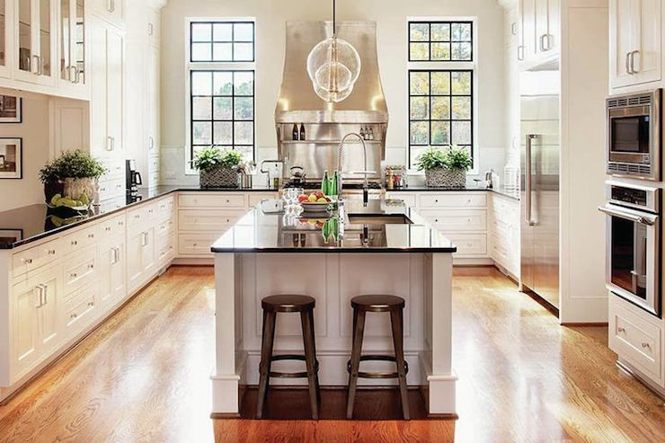 U Shaped Kitchen Transitional Kitchen Rufty Custom