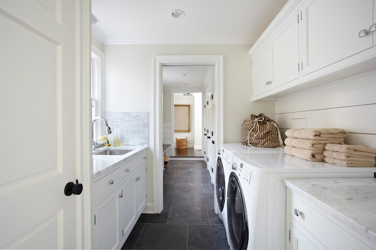 Galley Laundry Room Transitional Laundry Room Tr