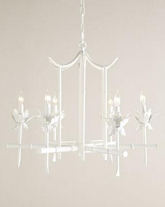 White bamboo motif chandelier aloadofball Image collections