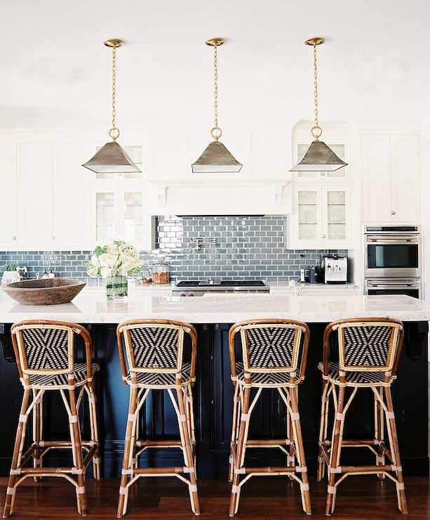 Blue Subway Tiles Transitional Kitchen Traditional Home