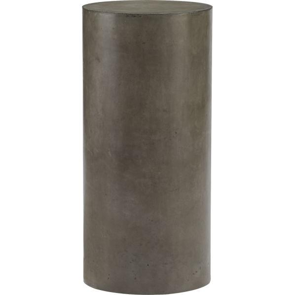 Column Grey Pedestal - Cb2 cement table