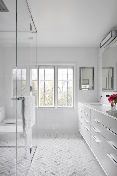 subway tile shower surround traditional bathroom bhg