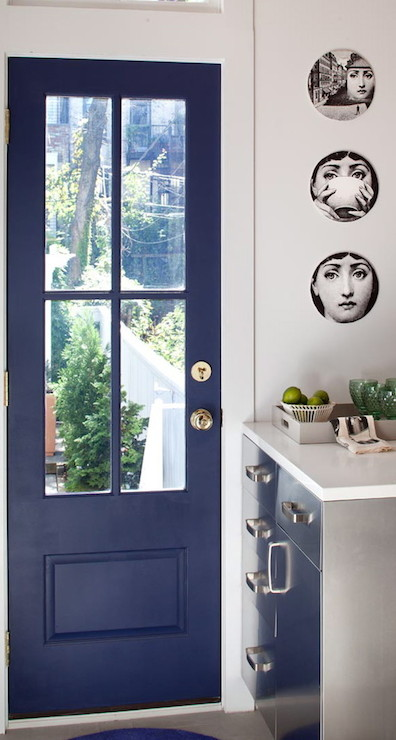 Blue Door Contemporary Kitchen Josephine Design
