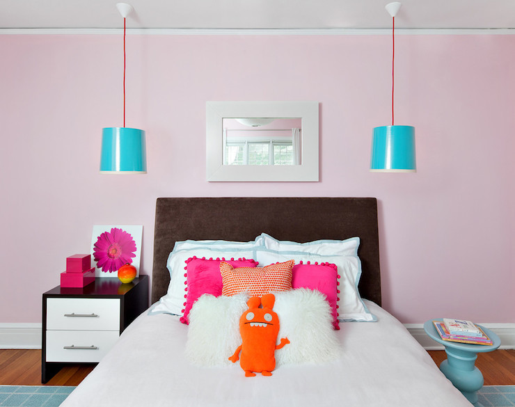 Red Colour Wall: Neon Pink Wall Paint