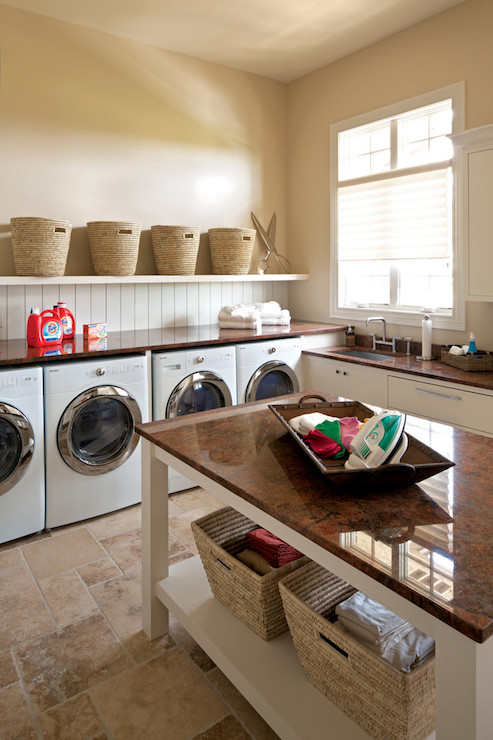 Laundry Room Island Transitional Laundry Room Savvy