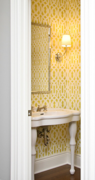 Trellis Stencil - Contemporary - bathroom - Visbeen Architects