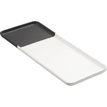 black dip platter, CB2