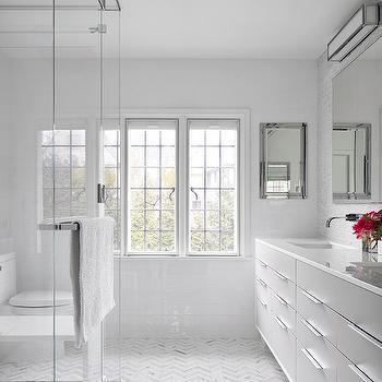 Chevron Floor, Contemporary, bathroom, Clean Design Partners