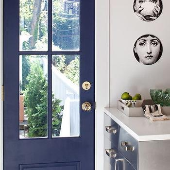 Glass paneled steel back door design ideas blue door planetlyrics Images
