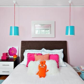 Pink Paint Colors, Contemporary, girl's room, Benjamin Moore Ribbon Pink, Clean Design Partners