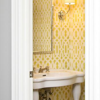 Trellis Stencil, Contemporary, bathroom, Visbeen Architects