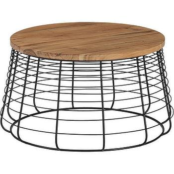 Durham brown round coffee table for Cb2 round coffee table