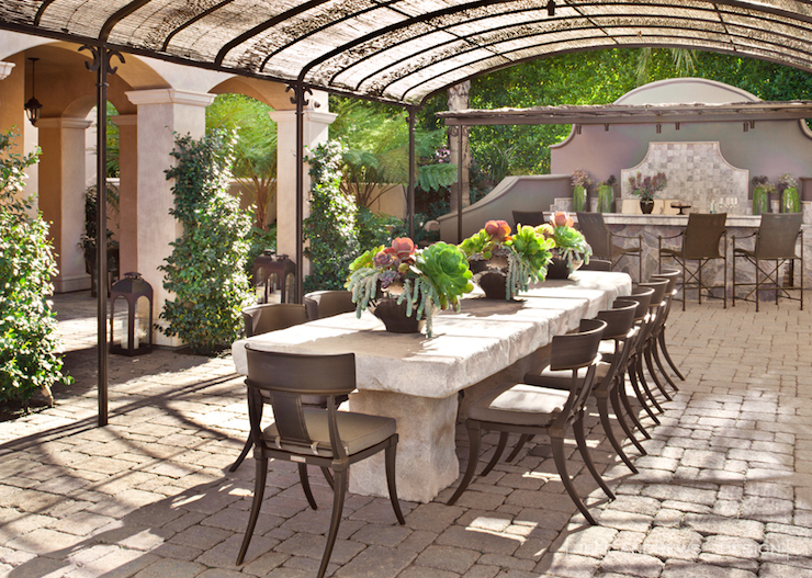 Covered patio contemporary deck patio jeff andrews for Restoration hardware outdoor dining