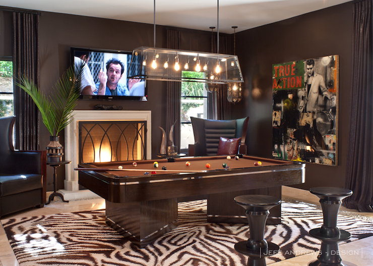 Pool Room Contemporary Denlibraryoffice Jeff Andrews Design - Restoration hardware pool table