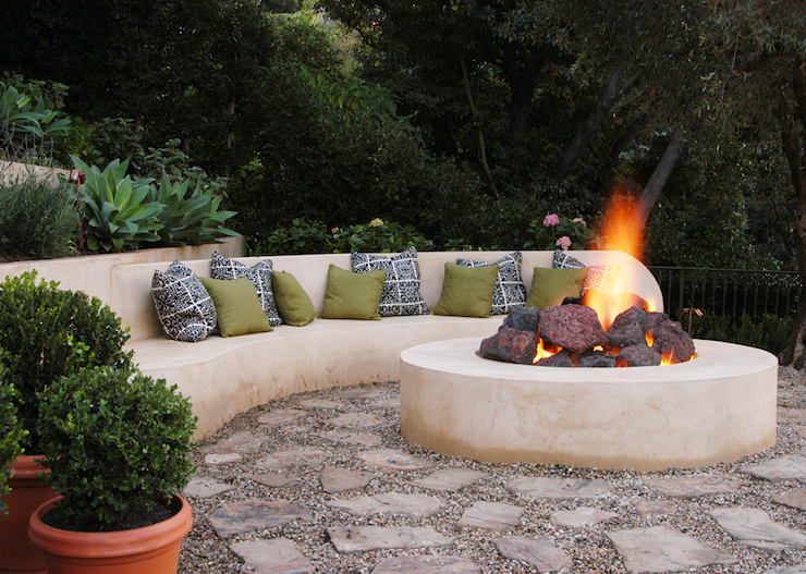 outdoor firepit contemporary deck patio jeff andrews