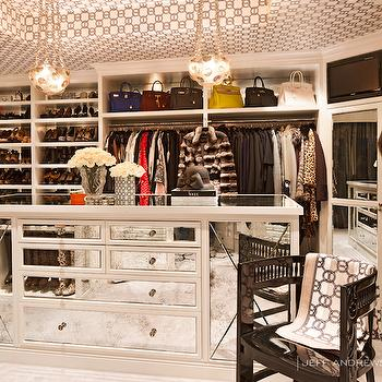 Mirrored Closet Island, Contemporary, closet, Jeff Andrews Design
