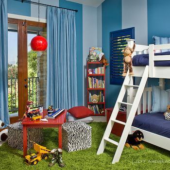 Striped Kids Room, Contemporary, boy's room, Jeff Andrews Design