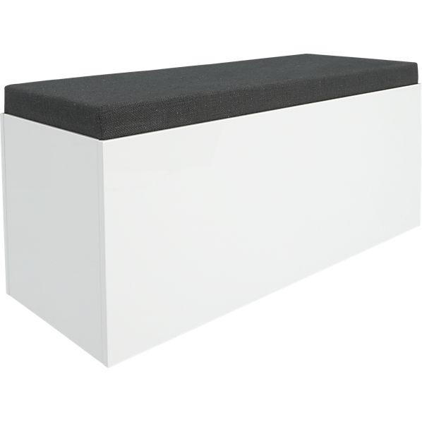 Catch All Grey And White Storage Bench