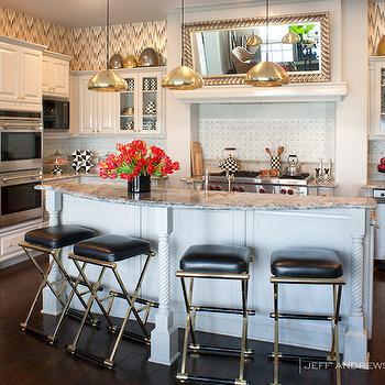 Curved Kitchen Island, Contemporary, kitchen, Jeff Andrews Design