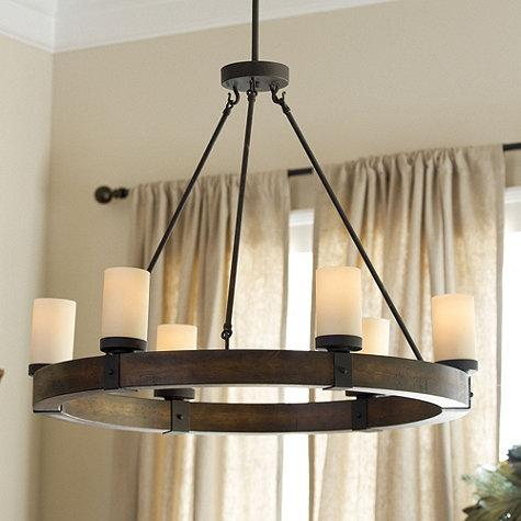 Arturo 6 light brown chandelier aloadofball