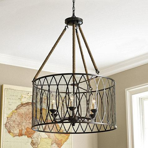 denley 6 light pendant chandelier ballard designs