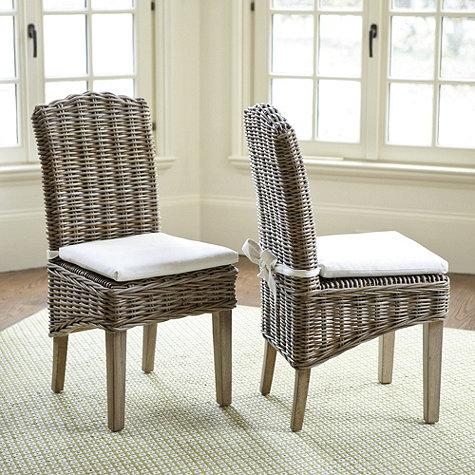 Simone Wicker Grey Chairs