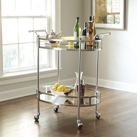 Freya Silver Bar Cart