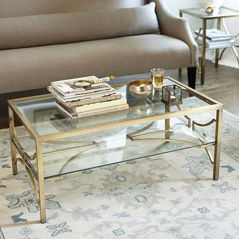 Celine Clear And Gold Coffee Table