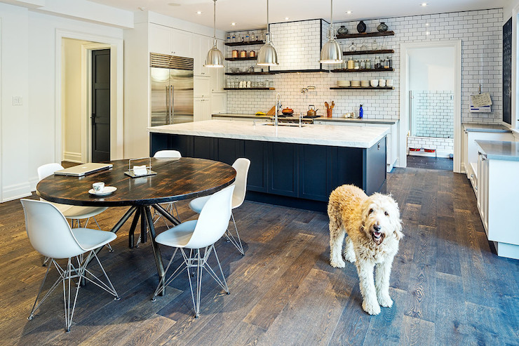 Tractor Barstools Transitional Kitchen Kathleen Bost