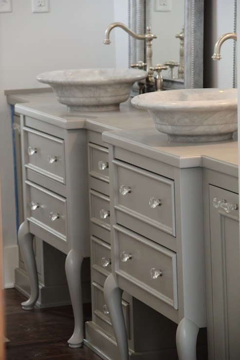 Repurposed Vanity French Bathroom Whimsy