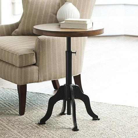 Allen Brown And Black Side Table