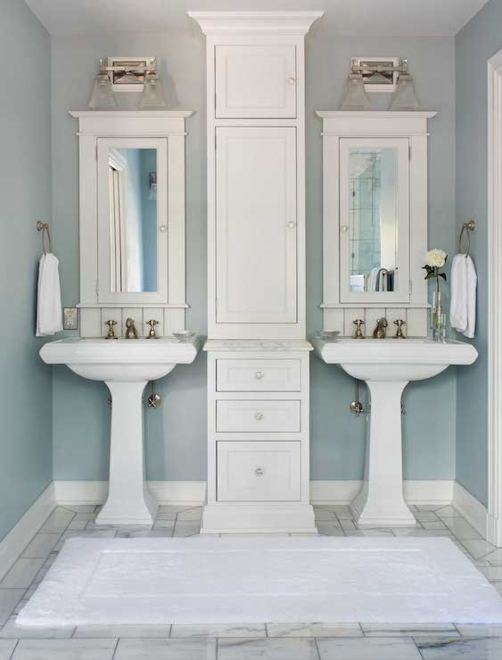 His and Her Pedestal Sinks
