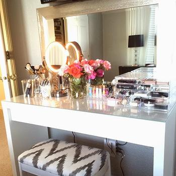 Malm Dressing Table, Contemporary, closet, Vintage Glamorous