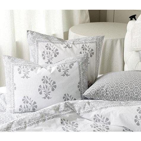 Ava Block Grey And White Print Duvet