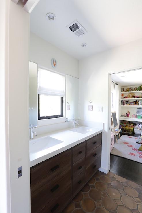 White Jack And Jill Bathrooms jack and jill bathroom - contemporary - bathroom - allwood
