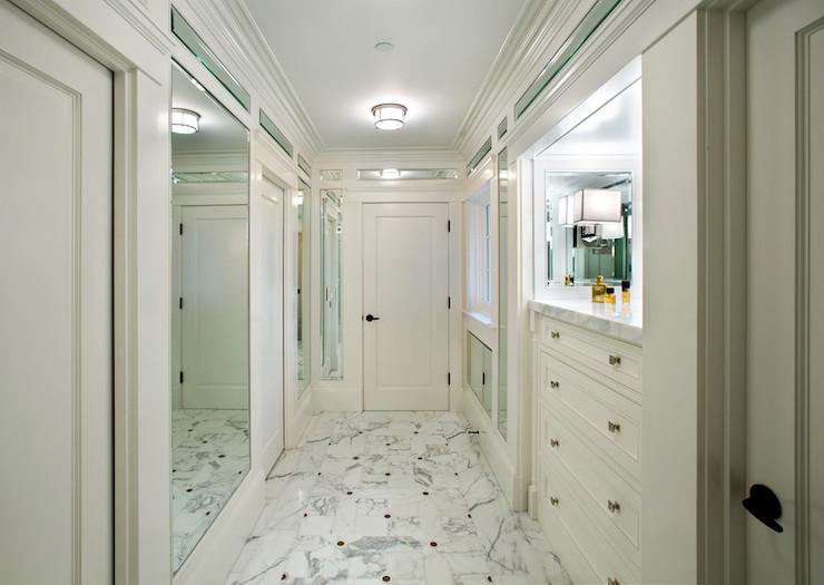Mirrored Dressing Room - Transitional - bathroom - Allwood Construction