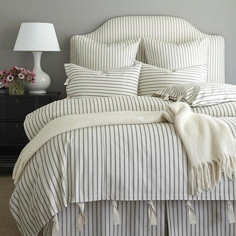 Ticking Navy And White Stripe Bedskirt