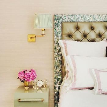 Green Nightstand, Transitional, bedroom, Kemble Interiors