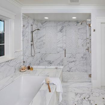 Double Shower, Transitional, bathroom, Allwood Construction