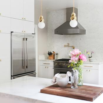 White Lacquer Cabinets, Transitional, kitchen, Croma Design